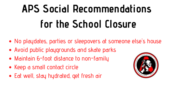 social recommendations for school closure